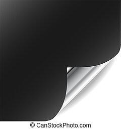 Vector Seite mit gebogener Ecke und Schatten. Perfekt für Text, Design. Mehr in meiner Galerie.