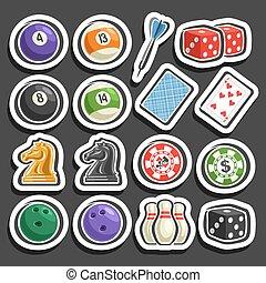 Vector Set von Spiel-und Spielgeräten.