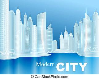 Vector Sketch einer modernen Stadt