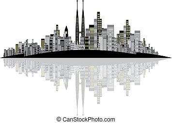 Vector Skyline Hintergrund