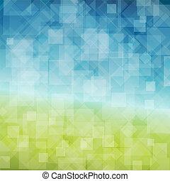 Vector Spring abstrakter Hintergrund