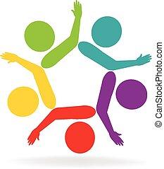 Vector Teamwork Hand Gewerkschaft Logo.