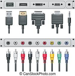 Vector Video und Audioverbindungen