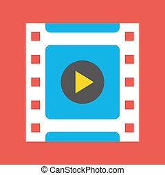 Vector Videorahmen-Ikone