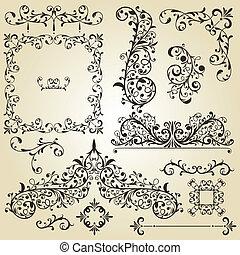 Vector Vintage Designelemente.
