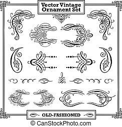 Vector Vintage-Ornament-Set