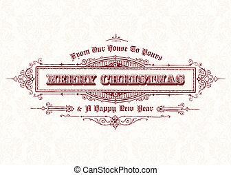 Vector Vintage Weihnachtsgeschenk