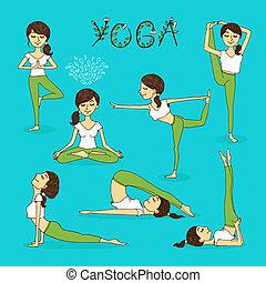 Vector Yoga-Posen.