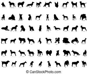 Vectors Silhouette von Hunden