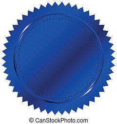 vektor, blaues, siegel, abbildung