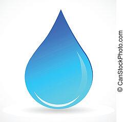 Vektor des blauen Wassertropfen-Logos.