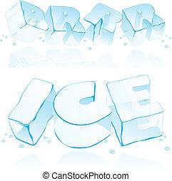 Vektor-Eisschreiben