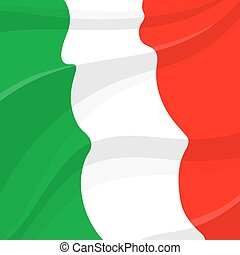 Vektor-Flagge. Italienisches nationales Symbol