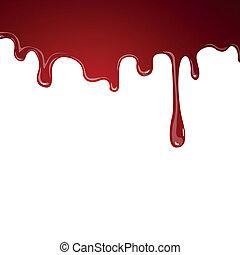 Vektor fließt Blut