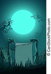 vektor, halloween, abbildung