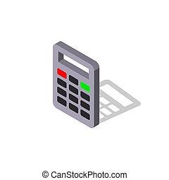 vektor, icon.isometric, illustration., eps, taschenrechner, -