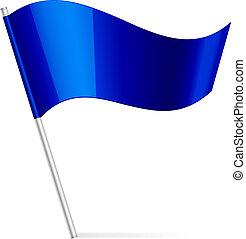Vektor Illustration der blauen Flagge