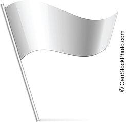 Vektor Illustration der Silberflagge