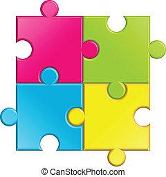 Vektor Illustration des Puzzles