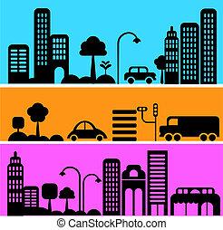 Vektor illustriert eine Stadtstraße