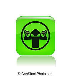 Vektor illustriert Einzelgewichts-Ikone