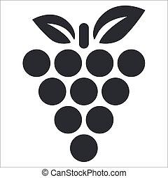 Vektor illustriert einzelne Traubenkonserven