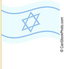 Vektor illustriert Israelflagge