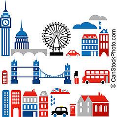 Vektor illustriert Londons Wahrzeichen