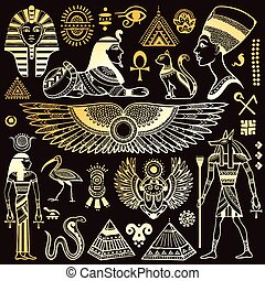Vektor isolierte Ägypt-Symbole.