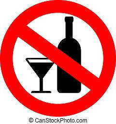 Vektor kein Alkoholzeichen