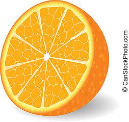 Vektor orangene Frucht