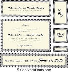 Vektor ornate Hochzeitsrahmen