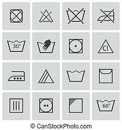 vektor, schwarz, satz, wäsche, heiligenbilder