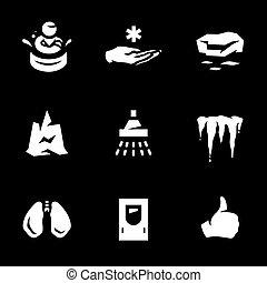 Vektor-Set von Körper gefrieren Ikonen.