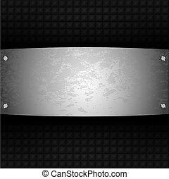Vektor-Stahlplatte für dein Design