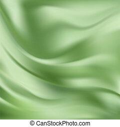 Vektor-Stimme abfahren, grüne Seide