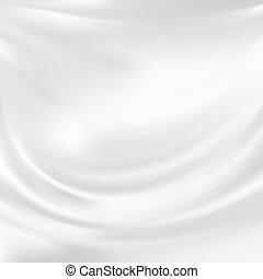 Vektor-Stimme abfahren, weiße Seide