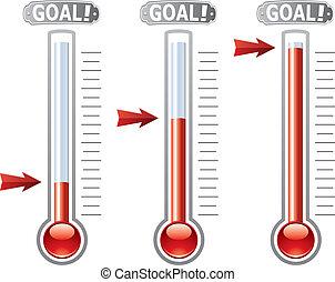 vektor, thermometer