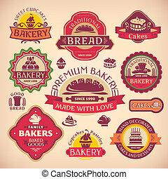 Vektor Vintage verschiedene Bäcker Labels.