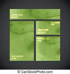 Vektor visuelle Corporate Identity grün mit Farbe Wasserco