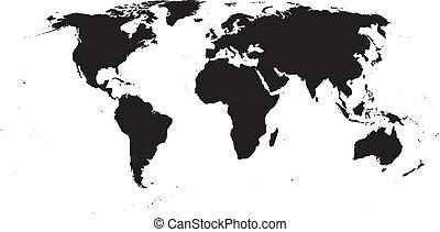 Vektor-Weltkarte
