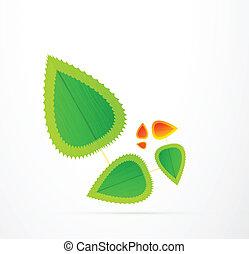 Vektorblatt-Konzept. Ein abstraktes Symbol der Natur