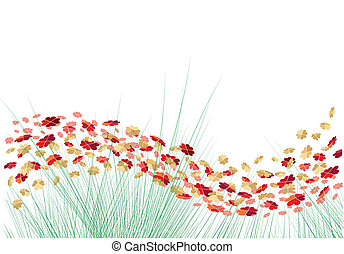 Vektorblumen mit Herz