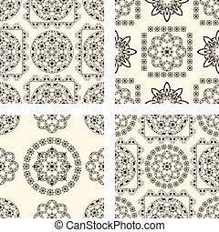 Vektoren aus nahtlosen alten Mustern