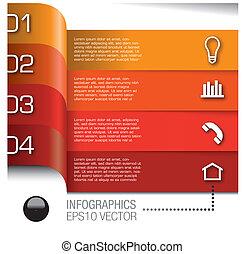 Vektoren mit infografischen Elementen