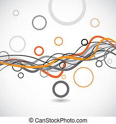 Vektoren und Kreise abstrakter Hintergrund