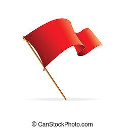 Vektorflagge rot. Ikonen