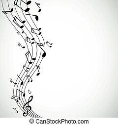 Vektormusiknotizen