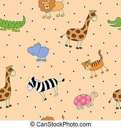 Vektormuster mit Cartoon-Tieren