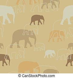 Vektormuster mit Elefanten